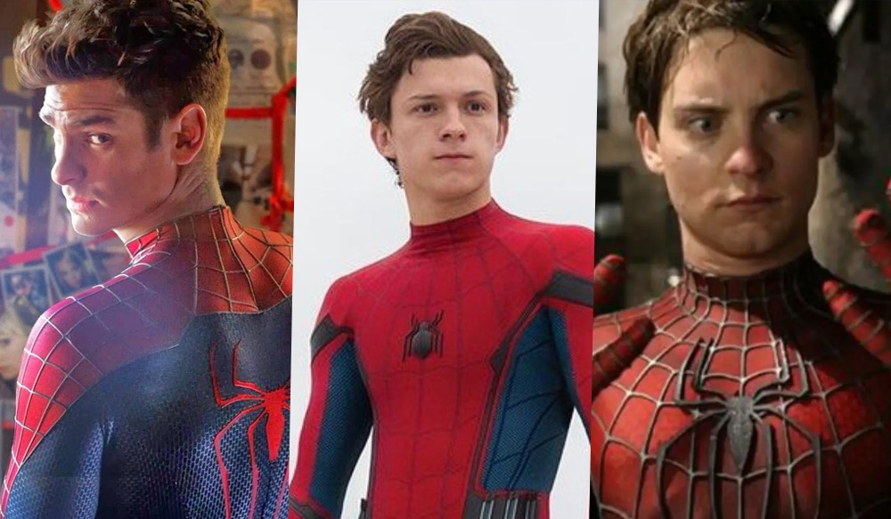 Andrew Garfield, Tom Holland e Tobey Maguire