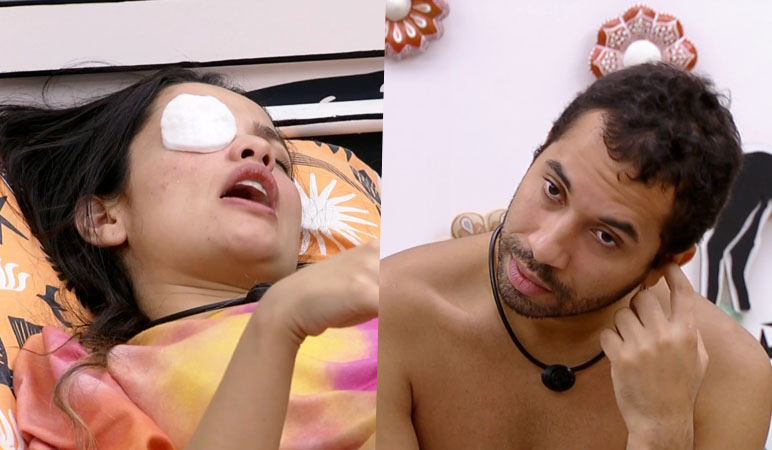 Juliette e Gilberto, participantes do BBB 21.